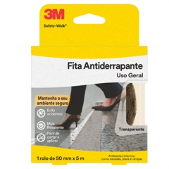 Rolo de Fita Antiderrapante Safety-Walk 50mm com 5m Transparente - 3M