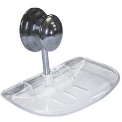 Saboneteira de Parede Plus em Abs/Alumínio Cromada Ref. 16351 - Sicmol