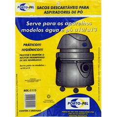 Saco para Aspirador de Pó Descartável, Electrolux Hidro a10-Pet        - Porto Pel