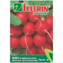 Sementes de Rabanete Crimson Gigante Redondo - Feltrin