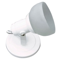 Spot Branco com Vidro Fosco para 1 Lâmpada Ref. 450/1 - Franzmar