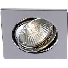 Spot de Embutir Quadrado Direcionável para 1 Lâmpada Cromado - Casanova