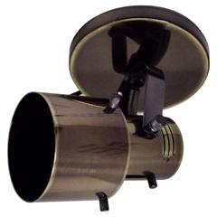 Spot de Sobrepor em Alumínio para 1 Lâmpada 60w 110v Oxidado - Spot Line