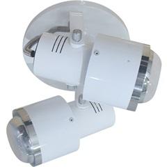 Spot de Sobrepor em Alumínio para 2 Lâmpadas 60w 110v Branco - Spot Line