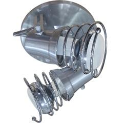 Spot de Sobrepor em Alumínio para 2 Lâmpadas 60w 110v Lixado - Spot Line