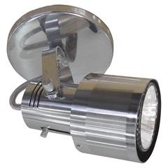 Spot de Sobrepor Na Base Ou Trilho Alumínio Polido / Lixado Ref. 509/1 - Spot Line