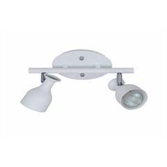Spot Douai em Aluminio para 2 Lâmpadas Branco - Casanova
