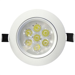 Spot Led de Embutir Redondo Sp 24 7w Autovolt 6500k Luz Branca - Taschibra