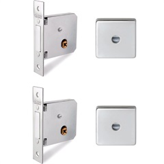 Supertrava Quadri Dupla 40mm Quadrada Inox  - Lockwell