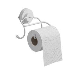 Suporte Papel Higiênico Branco Slim Fixa Click - Domo House