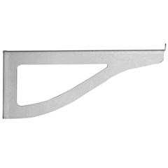 Suporte para Prateleira de Vidro Branco 10cm 2 Peças - Zamar