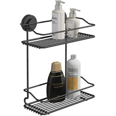 Suporte para Shampoo Duplo Fixaclick Preto - Domo House