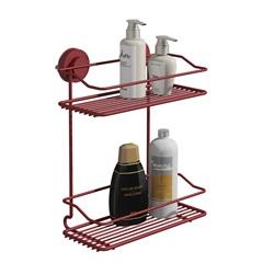 Suporte Para Shampoo Duplo Fixaclick Vermelho – Domo House