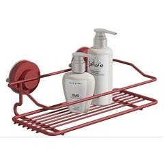 Suporte para Shampoo Simples Fixaclick Vermelho - Domo House