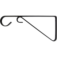 Suporte para Vasos Preto 30cm - Bemfixa