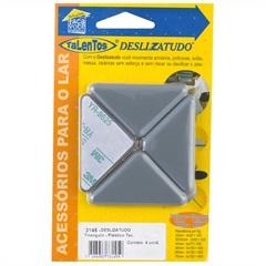 Suporte Protetor Deslizatudo Triangular Plástico com 4 Peças Ref. 3145 - Talentos