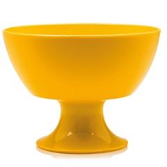 Taça de Sobremesa Luna Cristal Amarela 300ml - Ou