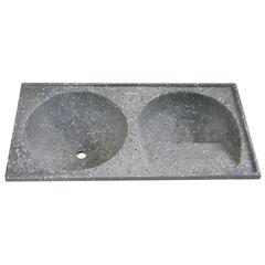 Tanque de Alvenaria Granito Sintético Conjunto Cinza 100x50cm - Corso
