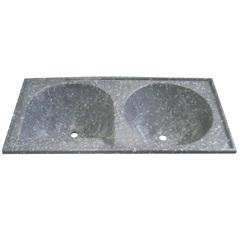 Tanque de Alvenaria Granito Sintético Conjunto Cinza 120x60cm - Corso