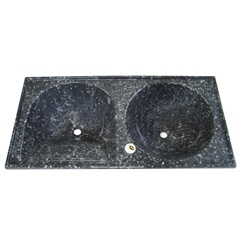 Tanque de Alvenaria Granito Sintético Conjunto Ônix 120x60cm - Corso