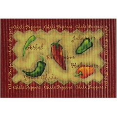 Tapete Confort Kitchen Chili Peppers 80x50 Cm - Kapazi