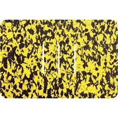 Tapete de Banheiro Rubberkap Formas Retangular Amarelo E Preto 40x60cm - Kapazi