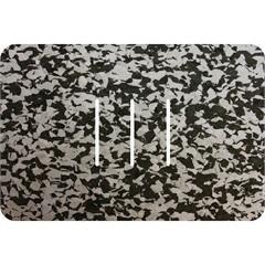 Tapete de Banheiro Rubberkap Formas Retangular Preto E Cinza 40x60cm - Kapazi