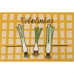 Tapete de Cozinha Clean Kasa Cebolinhas 40x60cm - Kapazi