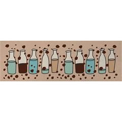 Tapete de Cozinha Clean Kasa Garrafas 40x100cm - Kapazi