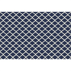Tapete Italy Accetty Azul E Branco 200x250cm - Kapazi