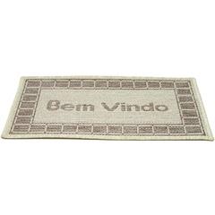 Tapete Sl Bem Vindo Arena Bege 40x60cm  - Rayza