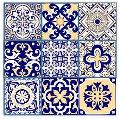 Tecido Adesivo Azulejos Coloniais - Panoah