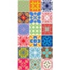 Tecido Adesivo Azulejos de Mandalas - Panoah
