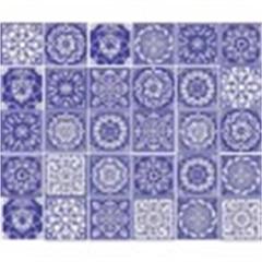 Tecido Adesivo Azulejos Duo Color - Panoah
