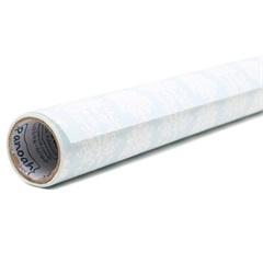 Tecido Adesivo Damasco Branco Fundo Azul Rafael - Panoah