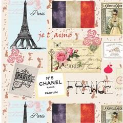 Tecido Adesivo France Paris  - Panoah