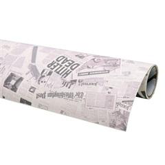 Tecido Adesivo Jornal Retro - Panoah