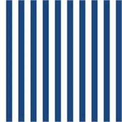 Tecido Adesivo Listrado Branco com Azul Marinho - Panoah