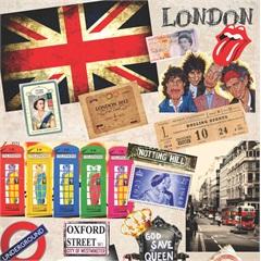 Tecido Adesivo Londres - Panoah