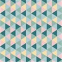 Tecido Adesivo Triangulos Coloridos - Panoah