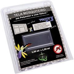 Tela Mosquiteiro em Poliéster Protej com Velcro 100x150cm Cinza - VR