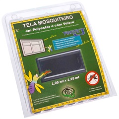 Tela Mosquiteiro em Poliéster Protej com Velcro 125x105cm Cinza