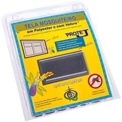Tela Mosquiteiro em Poliéster Protej com Velcro 125x125cm Cinza - VR