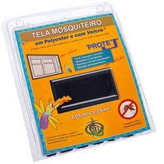 Tela Mosquiteiro em Poliéster Protej com Velcro 125x205cm Preta