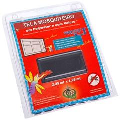 Tela Mosquiteiro em Poliéster Protej com Velcro 125x225cm Cinza