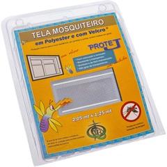 Tela Mosquiteiro em Poliéster Protej com Velcro 205x125cm Branca