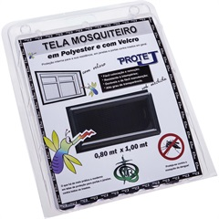 Tela Mosquiteiro em Poliéster Protej com Velcro 80x150cm Preta - VR