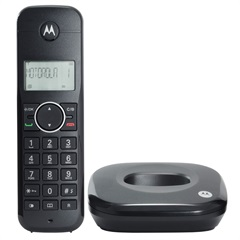 Telefone Digital sem Fio com Identificador de Chamadas Preto 500id  - Motorola