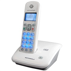 Telefone Motorola Digital Auri Dect sem Fio com Identificador de Chamadas Branco  - Motorola