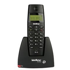 Telefone sem Fio Ts 40 com Identificador Preto Ref. 4070340 - Intelbras